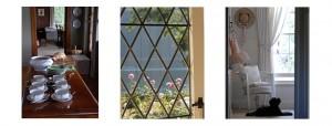 Panel indoors and window