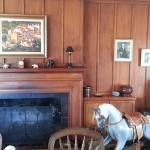 Panelled walls and rocking horse