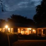 Lakehouse at night